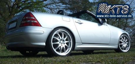 19 Zoll Alufelgen auf Mercedes SLK