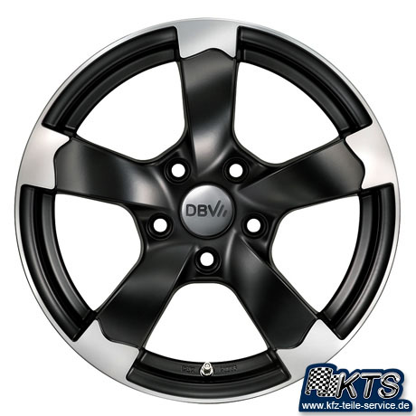 schwarz matte Felgen DBV Torino II Shop