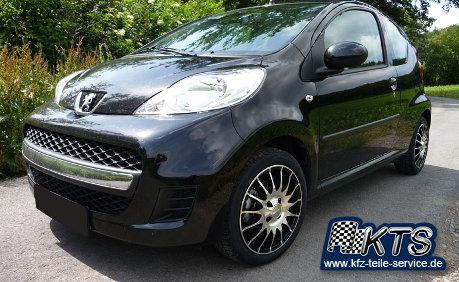 Peugeot Felgen schwarz auf Peugeot 107