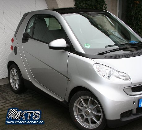 Smart Alufelgen 15 Zoll Bali silber