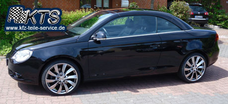VW Eos mit 19 Zoll Alufelgen Rial
