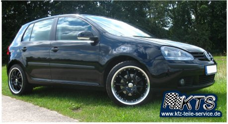 VW Golf 5 Alufelgen DBV S-Australia schwarz