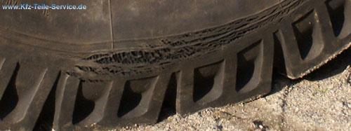 Reifenalterung defekte Reifenflanke Reifen