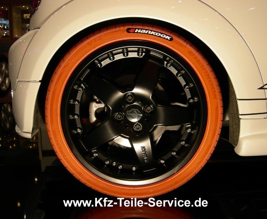 orangener Reifen Hankook VENTUS V12 weiß weiss orange bunt bunter Reifen