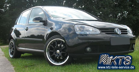VW Golf V mit DBV S-Mauritius black Alufelgen