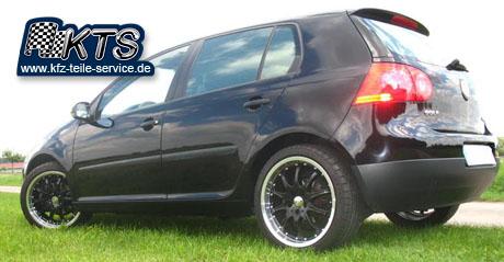 VW Golf V schwarz mit 18 Zoll DBV Mauritius black